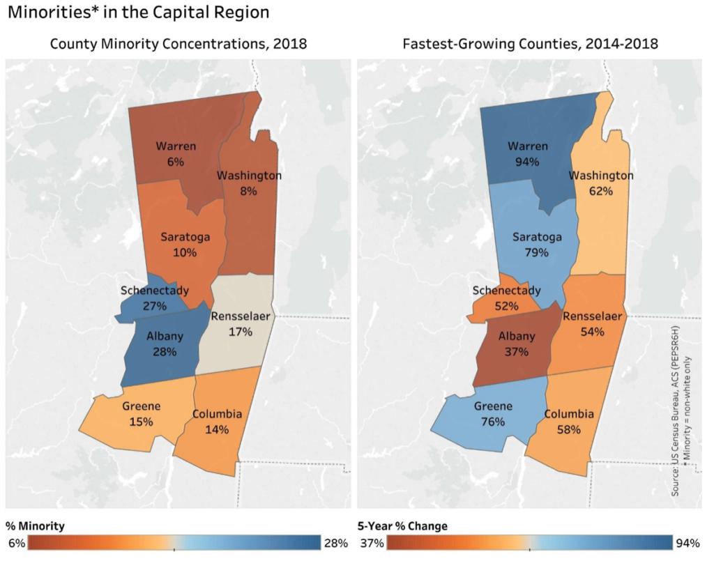 Minorities in the Capital Region Maps